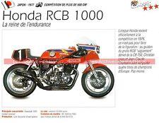 HONDA RCB 1000 ( Christian LEON RCB1000 N°1 ) 1977 Fiche Moto 000189