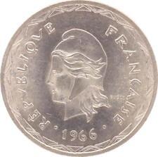 O211 Nouvelles-Hébrides100 Francs Marianne Tambour 1966 Argent Silver FDC !!!