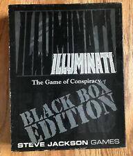 ILLUMINATI THE GAME OF CONSPIRACY BLACK BOX EDITION STEVE JACKSON GAMES