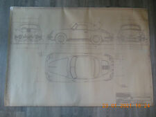 Detailzeichnung Porsche Cabriolet Typ 356B