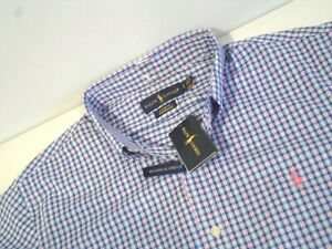 NEW Ralph Lauren Men's Performance Polo Shirt Size Large Classic Fit Top w/ Pony