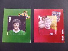 G.B. 2013 Football Heroes 1st class x 2 s/adh Best/Moore ex retail bkt SG 3477/8