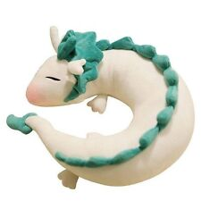 Anime Spirited Away White Dragon Haku Plush Toy Pillow Neck U-Shape Doll Kawaii