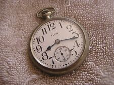 Vintage Elgin Pocket Watch 7 Jewels Star Watch Co. Nickel Case