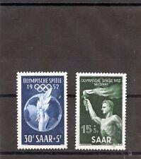 Saar Sc B89-90(Yt 301-2)*F-Vf Nh 1952 Semi Postal Set $25