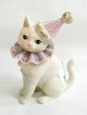Lenox Wise Cracker Kitty Cat Clown sculpture New in Box kitten