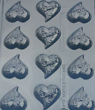 SWEET 16 TEAR DROP HEART BITES DIY CHOCOLATE CANDY MOLD MOLDS PARTY FAVORS