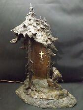 Antique austrian CSADEK bronze table lamp - Signed - Rare - Unique