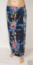 NEW BLUE & GREY FLOWER PRINT SARONG SKIRT FULL LENGTH COVER UP ONE SIZE / sa258