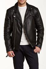 Members Only - Genuine Leather/Lamb Milano Modern Moto Jacket Size XL Free Ship