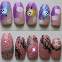 NFC nail art LED flashing light sticker with 17 decorative art n K9H3 stick C2B6