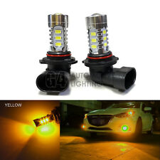2x HB4 9006 LED Fog Light Bulbs 15W SMD 5730 12V High Power Bright Golden Yellow