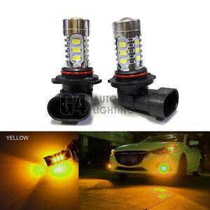 2x HB4 9006 LED Fog Light Bulbs 15W SMD 5730 12V High Power Bright Golden Yellow