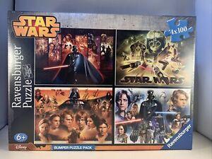Ravenburger Disney Star Wars Jigsaw Bumper Puzzle Pack 4 x 100