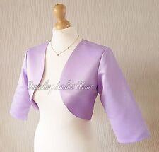 Light Purple Satin Bolero/Shrug/Jacket/Stole/Shawl/Wrap 3/4 Sleeve Lined New Tag