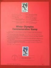 1988 United States Souvenir Page #SP822 - Winter Olympics / Skiing