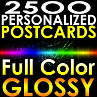 "2500 CUSTOM PRINTED 4x6 PERSONALIZED Postcards Full Color UV Coated Glossy 4""x6"""