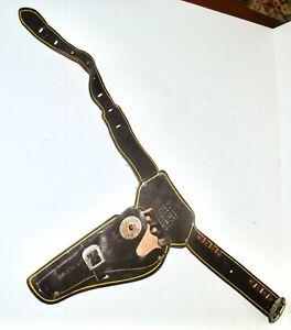 Vintage Wyatt Earp Cap Gun Belt & Holster - Left Handed