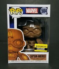 Funko Pop Marvel Captain America Wood Deco Entertainment Earth Exclusive