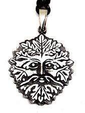 Green Man Man of the Woods Herne Pan Pendant Cord Necklace