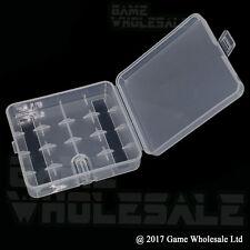 Chiaro Custodia Batteria per 4 x 18650 batterie di protezione da viaggio box di stoccaggio Holder