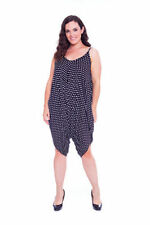V Neck Spotted Sleeveless Jumpsuits & Playsuits for Women