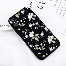 For iPhone XS XR 8 6 5 7 Cute Floral Pattern Rubber Soft TPU Silicone Case Cover