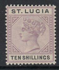 ST.LUCIA SG52 1891 10/= DULL MAUVE & BLACK - LIGHTLY MTD MINT