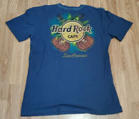 Hard Rock Cafe San Antonio T-shirt Large 100% Cotton authentic Double Sided