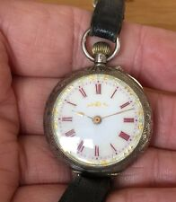 SOLID SILVER POCKET WATCH CONVERTED TO WRISTWATCH Spare Or Repair