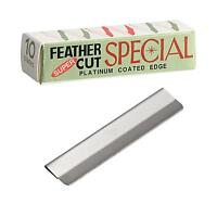 20 Blades Super Feather Cut Special Platinum Coated Edge Razor Blades New