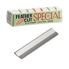 10 Blades Super Feather Cut Special Platinum Coated Edge Razor Blades New