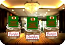 Leicester Tigers Biggest Supporter 12 Edible STANDUP Cake Toppers Decoration Fun