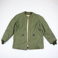 Vtg 60s Vietnam Era Insulated Military Jacket Liner OG Olive Green Grunge M/L