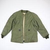 Vtg 60s Vietnam Era Insulated Military Jacket Liner OG Olive Green Grunge M/L