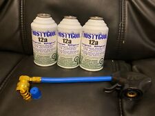 3 cans 12a Refrigerant 3 cans R12 replacement WITH HOSE, TAP + low Side Adapter