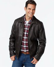 New $200 TOMMY HILFIGER Mens Full-Zip Faux-Leather Jacket...