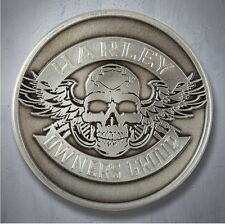 HARLEY DAVIDSON OWNERS GROUP HOG WINGED SKULL CHALLENGE COIN ** MADE IN USA **