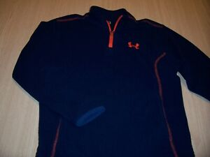 UNDER ARMOUR LONG SLEEVE BLUE 1/4 ZIP FLEECE SHIRT BOYS SIZE 6 EXCELLENT COND.