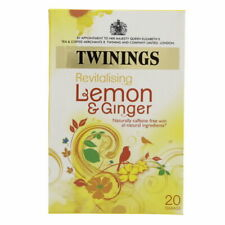 Twining's Revitalizing Lemon And Ginger 20 Teabags All Natural Ingredients
