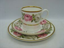 Vintage Royal Worcester Royal Garden trio coffee cup saucer & plate