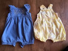 2x Mothercare Baby Girls Romper Suits Size 1-3 Months Only Worn Once