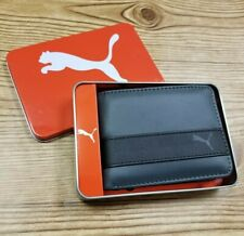 New Puma Active Authentic Sport Bi Fold Street Skater Men's Wallet Charcoal