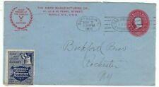 1899 Buffalo NY Advertising Pan American Exposition Philadelphia LABEL Hard Mfg