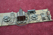 1920's Radio parts - valve holders, tranformer
