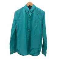 The Nutter Mens Oxford Shirt Turquoise Blue Long Sleeves Pocket M
