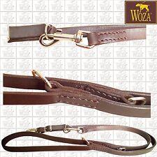 WOZA Premium Handgenähte Hundeleine Vollleder Lederleine Rindsleder Leash LB1941