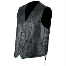 Rocky Ranch Hides™ Rock Design Genuine Hog Leather Biker Vest