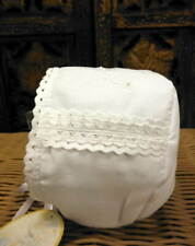 Will'beth Infant Newborn Baby Girl White Bonnet Lace Christening 0-6m
