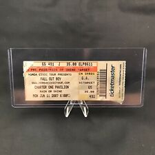 Fall Out Boy Charter One Pavilion Chicago Illinois Concert Ticket Stub June 2007